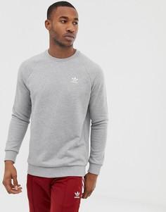 Серый свитшот с вышитым логотипом adidas Originals - Серый
