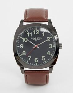 Мужские часы с коричневым ремешком Brave Soul - Коричневый