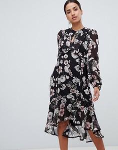 Платье миди с цветочным принтом Forever New - Мульти