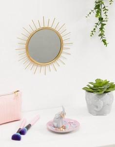 Зеркало в золотистой раме Sass & Belle - Мульти