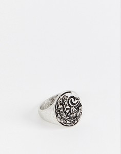 Серебристое толстое кольцо с отделкой в морском стиле ASOS DESIGN - Серебряный