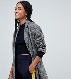 Строгое пальто в клетку Esprit - Серый