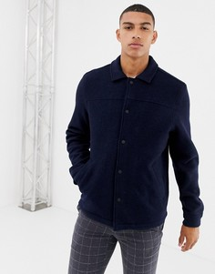 Темно-синяя спортивная куртка из вареной шерсти Farah Finley - Темно-синий