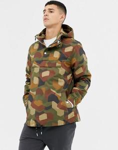 Куртка с камуфляжным принтом Farah Zach - Зеленый