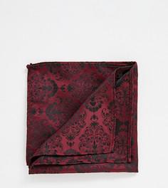 Бордовый трикотажный платок для нагрудного кармана Heart & Dagger - Красный