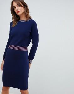 Облегающее платье Boss Casual - Темно-синий