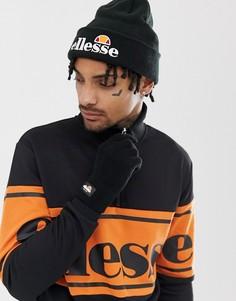 Черная шапка-бини и перчатки ellesse - Черный