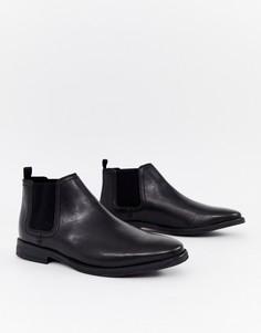 Кожаные ботинки челси черного цвета River Island - Черный