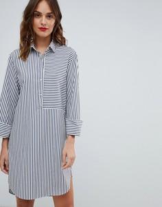 Платье-рубашка в полоску Boss Casual - Темно-синий
