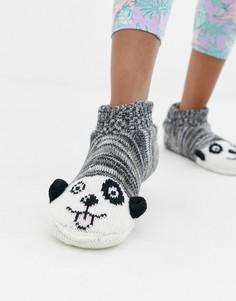 Носки-слиперы с изображением собак Brave Soul - Черный