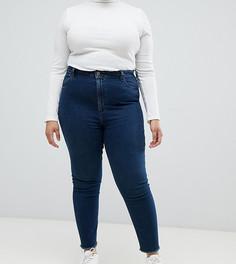 Темно-синие выбеленные джинсы в винтажном стиле ASOS DESIGN Curve Farleigh - Синий