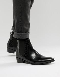 Черные кожаные ботинки House Of Hounds - Черный