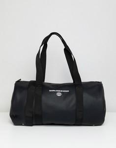 Черная сумка из искусственной кожи с вышивкой ASOS DESIGN - Черный