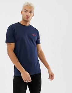 Синяя футболка с маленьким логотипом HUGO Durned-U3 - Темно-синий