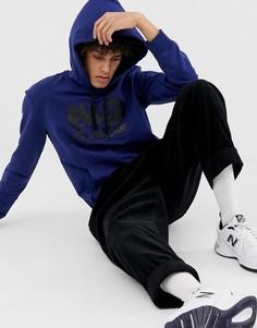 Худи с логотипом Love Moschino - Синий