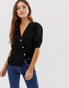 Черная блузка с пуговицами Pimkie - Черный