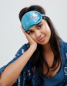 Синяя маска для сна с принтом Hello Kitty Japan Womensecret - Синий