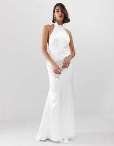 Платье-халтер макси с открытой спиной ASOS EDITION - Белый