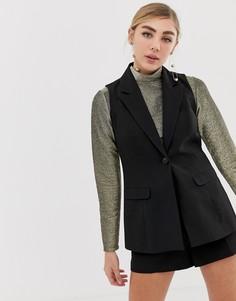 Черный приталенный жилет Miss Selfridge - Черный