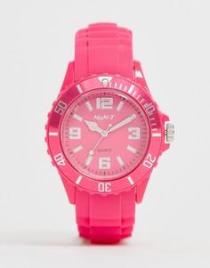 Розовые часы с силиконовым ремешком NeonT - Розовый
