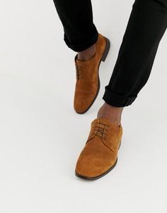 Светло-коричневые замшевые туфли на шнуровке ASOS DESIGN - Рыжий