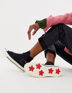 Высокие черные кроссовки Converse x Hello Kitty Chuck Taylor 70 - Черный