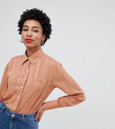 Свободная рубашка в горошек Glamorous Tall - Коричневый