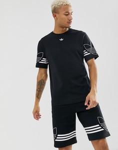 Черная футболка с логотипом-трилистником adidas Originals DU8145 - Черный