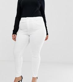 Белые джинсы скинни с завышенной талией ASOS DESIGN Curve Ridley - Белый