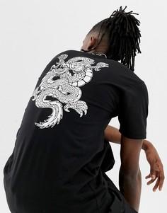 Черная футболка с принтом дракона на спине Vans VN0A3HXTBLK1 - Черный