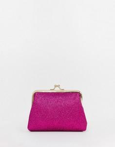 Кошелек с блестками ASOS DESIGN - Розовый