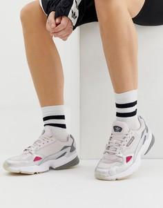 Серо-серебристые кроссовки adidas Originals Falcon - Серый