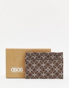 Коричневый кошелек для карт из искусственной кожи ASOS DESIGN - Коричневый