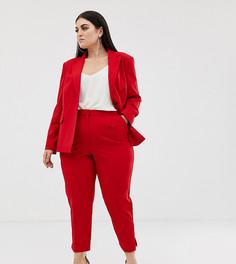 Красные узкие брюки ASOS DESIGN Curve - Красный