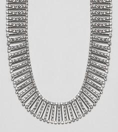 Броское ожерелье со стразами DesignB London - Серебряный