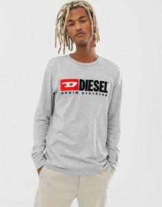 Серый лонгслив Diesel T-Just-LS-division - Серый