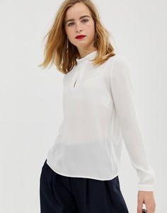 Блузка с отворачивающимся воротником Selected Femme - Кремовый