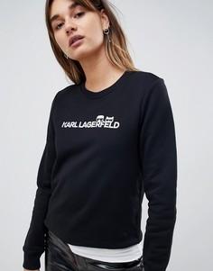 Свитер с логотипом Karl Lagerfeld Choupette - Черный