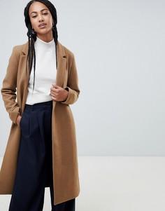 Строгое пальто Esprit - Бежевый