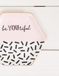 Подставка-блюдце для украшений с надписью be youtiful Sass & Belle - Мульти