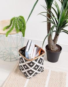 Черно-белая корзина из бамбука Sass & Belle - Мульти