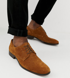 Светло-коричневые замшевые туфли для широкой стопы со шнуровкой и натуральной подошвой ASOS DESIGN - Рыжий