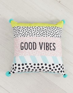 Наволочка для подушки с надписью good vibes Sass & Belle - Мульти