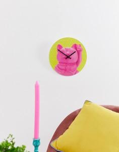 Часы с японским котом удачи Mustard - Мульти