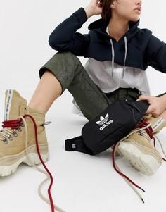 Черная сумка-кошелек на пояс с логотипом adidas Originals - Черный