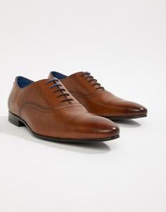 Светло-коричневые кожаные оксфордские туфли Ted Baker Murain - Рыжий