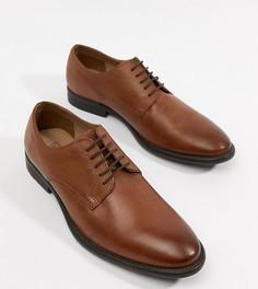 Светло-коричневые мягкие кожаные туфли на шнуровке ASOS DESIGN - Рыжий
