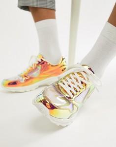 Кроссовки с массивной подошвой и прозрачными вставками ASOS DESIGN - Белый
