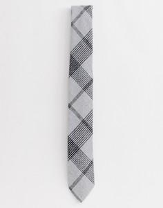 Галстук в серую клетку Twisted Tailor - Серый