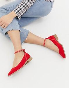 Туфли на плоской подошве ASOS DESIGN Molly - Красный